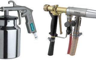 Пескоструйный пистолет для компрессора: делаем своими руками