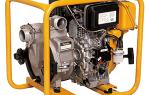 Мотопомпа для грязной воды: бензиновая, дизельная — особенности, применение, выбор