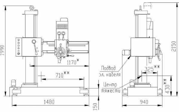 Радиально-сверлильный станок 2К52: технические характеристики