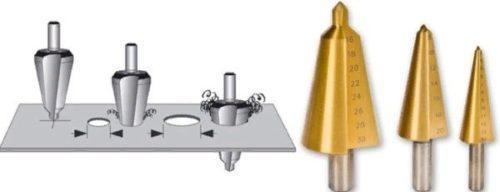 Ступенчатое сверло по металлу (конусное сверло): параметры, заточка