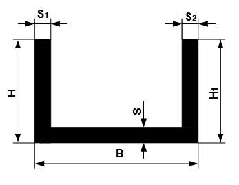 Швеллер алюминиевый П-образный – сортамент, размеры, фото