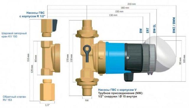Рециркуляционный насос для горячей воды (ГВС): принцип работы, как подобрать